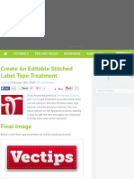 Create An Editable Stitched Label Type Treatment - Vectips