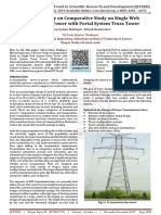 A Review Study on Comparative Study on Single Web System Truss Tower with Portal System Truss Tower