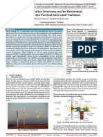 A Comparative Overview on the Horizontal Axis and the Vertical Axis wind Turbines