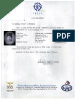 MELJUN CORTES TESDA License NC I Technician