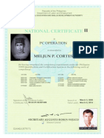 MELJUN CORTES TESDA License NC II PC Operations