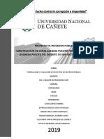 Estudio de evaluación de proyecto de inversión pública.