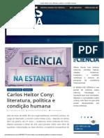 Carlos Heitor Cony_ literatura, política e condição humana