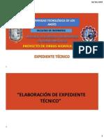 1.ELABORACION DE EXPEDIENTE TECNICO