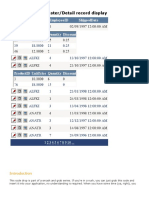 GridView inline Master-detail record