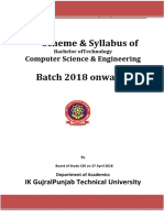 SYLLABUS for PTU-CSE-2018-SEM-1&2