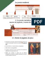 material de noveno mester de jugleria y clerico