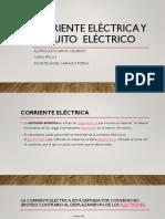 Corriente eléctrica y circuito  eléctrico