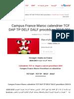 Campus_France_Maroc_calendrier_TCF_DAP_TP_DELF_DALF_procédure_2018-2019__tawjihnet