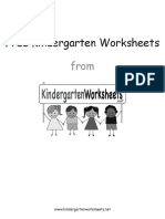 FreeKindergartenWorksheets