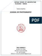 SYNOPSIS-SCHOOL OF PHOTOGRAPHY
