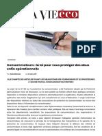 Consommateurs__la_loi_pour_vous_protéger_des_abus_enfin_opérationnelle_-_Lavieeco