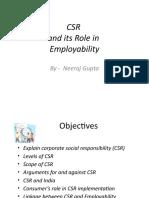 CSR role in Employability