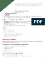 Normas para Resumir y Redactar 3º E.P.