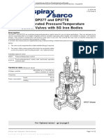 DP27T and DP27TE Pilot Operated Pressure Temperature Control Valves with SG Iron Bodies