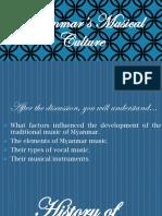 Myanmar 's musical culture