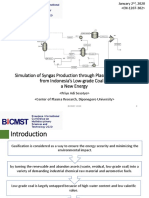 EN-1207-302 - Simulation of Syngas Production through Plasma Gasification from Indonesia's Low-grade Coal as a New Energy