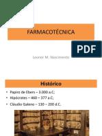 FARMACOTÉCNICA Introdução