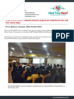 A Non Invasive Cardiac Treatment Awareness Program Was Conducted on Lions Club Padi, Shenoy Nagar