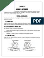 Milling machine lab work
