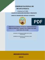 DIRECTIVA DE NORMAS TÉCNICAS Y PROCEDIMIENTOS PARA LA APERTURA Y MANEJO DEL FONDO FIJO PARA CAJA CHICA - 2019.docx