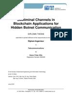 Subliminal Channels in Blockchain Applications for Hidden Botnet Communication