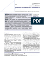 The role of national health insurance for achieving UHC in the Philippines- a mixed methods analysis
