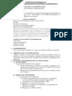 TDR. de servicio ANTIVIRUS