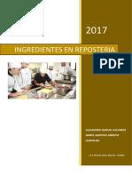 INGREDIENTES EN LA PASTELERIA - ALEJANDRO ISABEL Y POL