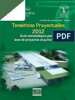 2012 - Tematicas proyectuales - Guia metodologica