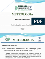 Aula 3 - Metrologia Exatidão e precisão