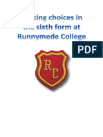 runnymede - how to choose your a levels