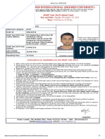 Admit Card - SNAP 2019