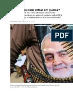 EUA e Irã podem entrar em guerra