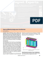 Flux How to Efficiently Design Power Transformers Magnews 2