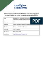 De La Peña - 2000 - Aplicación de la Metodología del Valor Económico Agregado en una Empresa del Sector Metalmecánico
