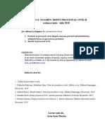 TEMATICA EXAMEN  Dr. Pr.civ. 2019   referat