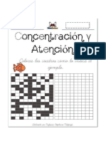 Ejercicio de atención y concentración