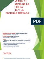 IMPORTANCIA DE LA MINERIA EN LA ECONOMIA Y
