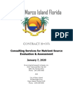Consulting Services for Nutrient Source Evaluation and Assessment City of Marco Island Contract 19-033 - Jan. 7, 2020