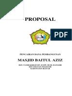 PROPOSAL PENCAIRAN PEMBANGUNAN MASJID BAITUL AZIZ 2019