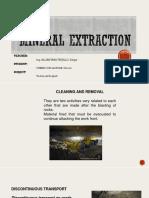 EXTRACCION DE MINERAL Y DESMONTE