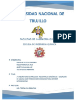 DE OXIDACIÓN DE ANILINA CON PERÓXIDO DE HIDROGENO SUBIDO