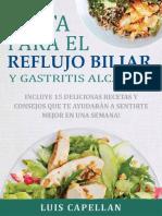Dieta Para El Reflujo Biliar y Gastritis Alcalina