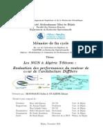Les NGN à Algérie télécom Evaluation des performances du routeur de cœur de l'architecture Diffserv.