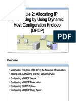 Allocating IP Addresses by Using DHCP