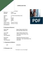 CURRICULUM VITAE and Documentation