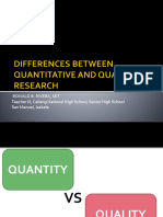 DIFFERENCES BETWEEN QUANTITATIVE AND QUALITATIVE RESEARCH [Autosaved]