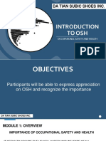 INTRODUCTION TO OSH