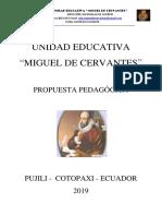 PROPUESTA PEDAGOGICA UNIDAD EDUCATIVA MIGUEL DE CERVANTES 2019 V2